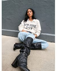 Free People Elle Tall Slouch Boots - Black