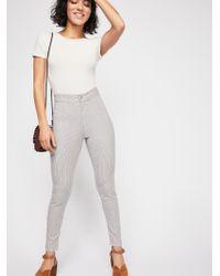 Free People - Belle Printed Skinny Pants - Lyst