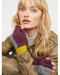 Free People - Accessories Gloves Holland Colour Block Fingerless Gloves - Lyst