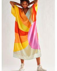 Free People Sunshine Silk Kaftan - Multicolour