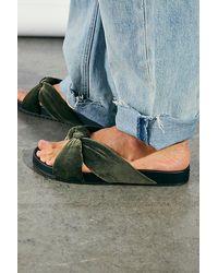 Matisse Velvet View Footbed Sandals - Green