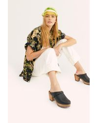 Free People Phoebe Clog By Mia Shoes - Black