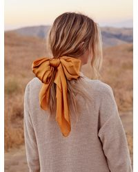 Free People Oversize Bow Pony Scarf - Multicolor