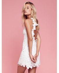 Free People - Jessa Lace Mini Dress - Lyst