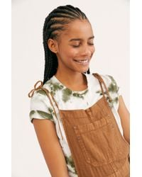 Free People Natural Sights Overalls - Multicolour