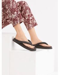 Free People Lena Footbed Sandal By Fp Collection - Black