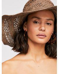 Free People - Camille Raffia Straw Hat - Lyst