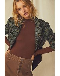 Intimately Make It A Mock Neck Seamless Bodysuit - Brown
