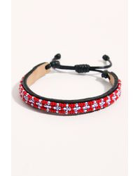 Free People Woven Bracelet By Ubuntu - Red