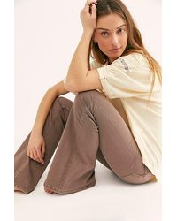 Free People Penny Pull-on Flare Jeans - Multicolour