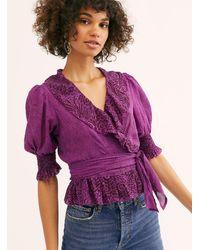 Free People Olivia Wrap Top - Purple