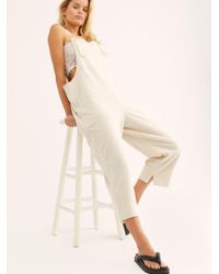 Free People Lucy Dungarees By Fp Beach - Natural