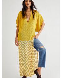 Free People Sunset Beach Kaftan - Yellow