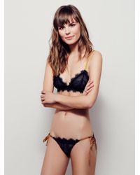Free People Bedroom Eyes Tie Bikini Bedroom Eyes Bralette - Black