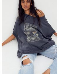 Free People The Grove Pink Floyd Pullover - Blue