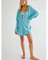 Free People We The Free Summer Daydream Buttondown - Blue