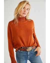 Free People Poppy Cashmere Turtleneck - Brown