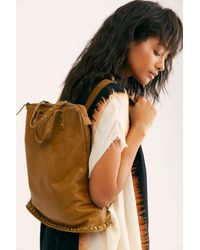 Free People Ellie Leather Studded Backpack By Fp Collection - Multicolor