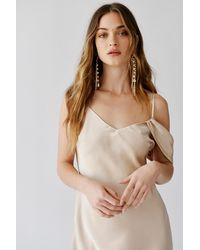 Free People The Phoenix Party Dress By Fame And Partners - Natural