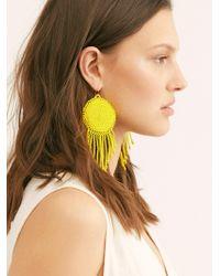 Free People Sophie Earrings By Casa Clara - Yellow