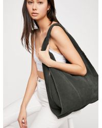 Free People | Slouchy Suede Hobo | Lyst