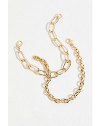 Free People - Everyday Chain Recycled Bracelet - Lyst