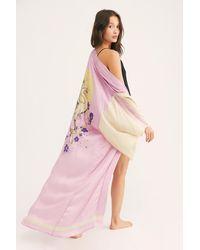 Free People Rising Sun Maxi Kimono - Pink