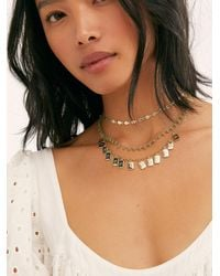 Free People Millie Layered Necklace - Grey