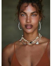 Free People Retrograde Layered Necklace - Metallic
