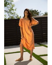 Free People Calypso Tee By Endless Summer - Orange