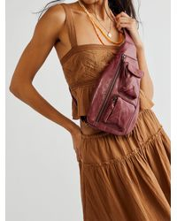 Free People Greenpoint Leather Sling - Red