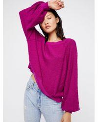 Free People Found My Friend Sweatshirt - Purple