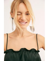 Free People Into It Square Neck Crop By Intimately - Green