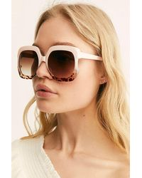 Free People Gradient Real Deal Oversized Sunglasses - Multicolour