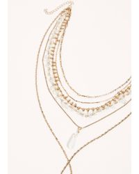 Free People Lilly Layer Necklace - Metallic