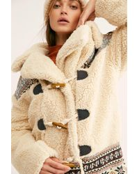 Free People Oh My Teddy Coat - Natural