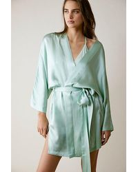 Intimately Sleepless Nights Silk Robe - Multicolour