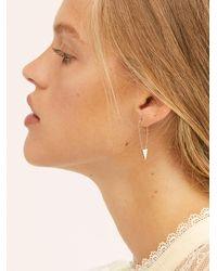 Free People Pin Earrings - Metallic