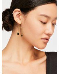 Free People - Mari Curved Dangle Earring - Lyst