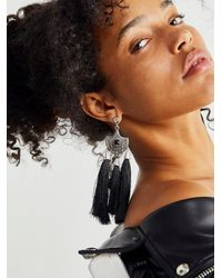 Free People Tassel Earrings - Black
