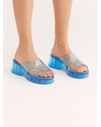 d5e0a24fee1 Free People - Wild Card Flatform Sandal By Jeffrey Campbell - Lyst
