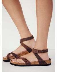 Free People - Yara Leather Sandals - Lyst