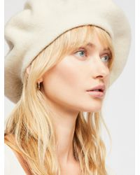 Free People Margot Slouchy Beret - Natural