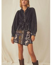 Free People You're All Mine Blouse - Black