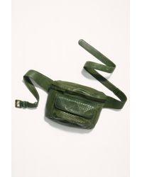 Free People Corrinne Snake Belt Bag - Green