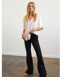Free People Penny Pull-on Flare Jeans - Black
