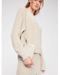 Free People - Leather Iphone Plus Clutch - Lyst