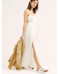 Free People Yes Please Maxi Dress By Endless Summer - White
