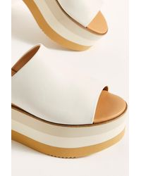 Free People High Standards Flatform Sandals By Paloma Barcelo - White