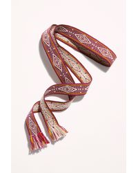 Free People Bands Of La Wrap Belt - Red